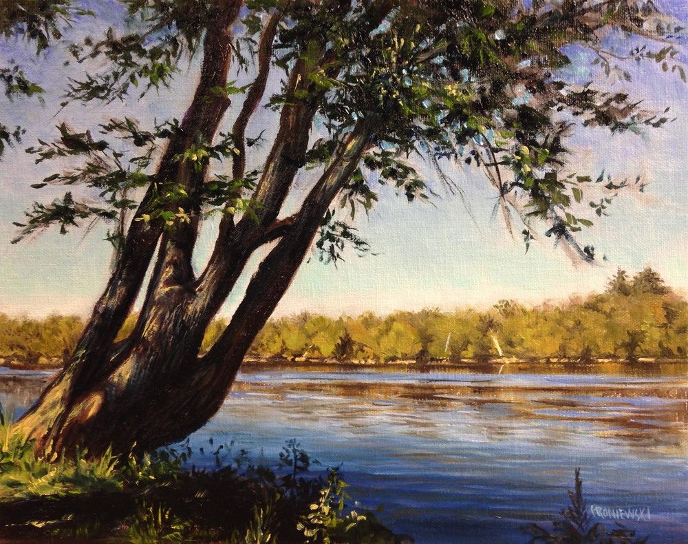 """Afternoon - The Delaware RIver"" 8"" X 10"" oil on linen board."