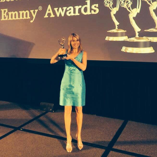 May 2014: Mary wins Emmy Award for Investigative Reporting, Boston Marriott Copley Place.