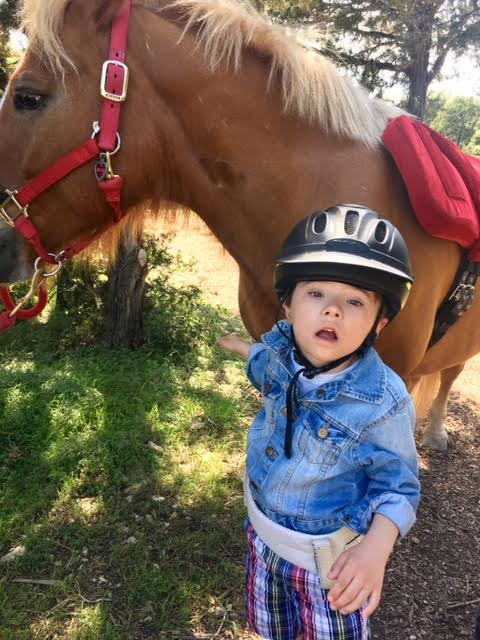 Nico Barillas at horse therapy