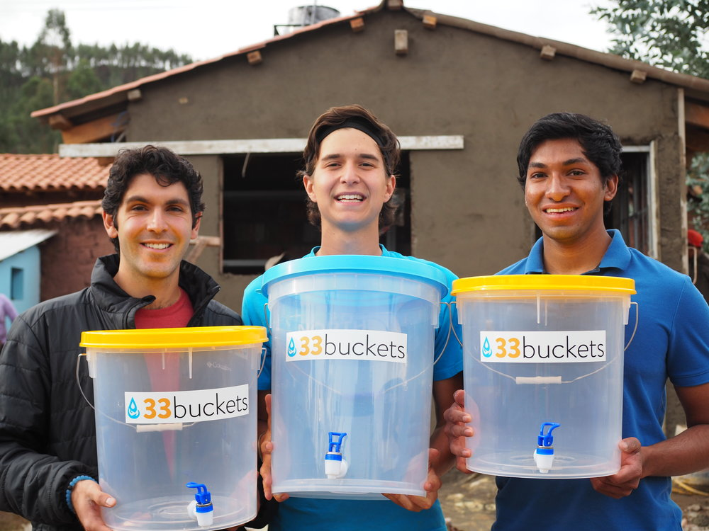 Our buckets for the project!
