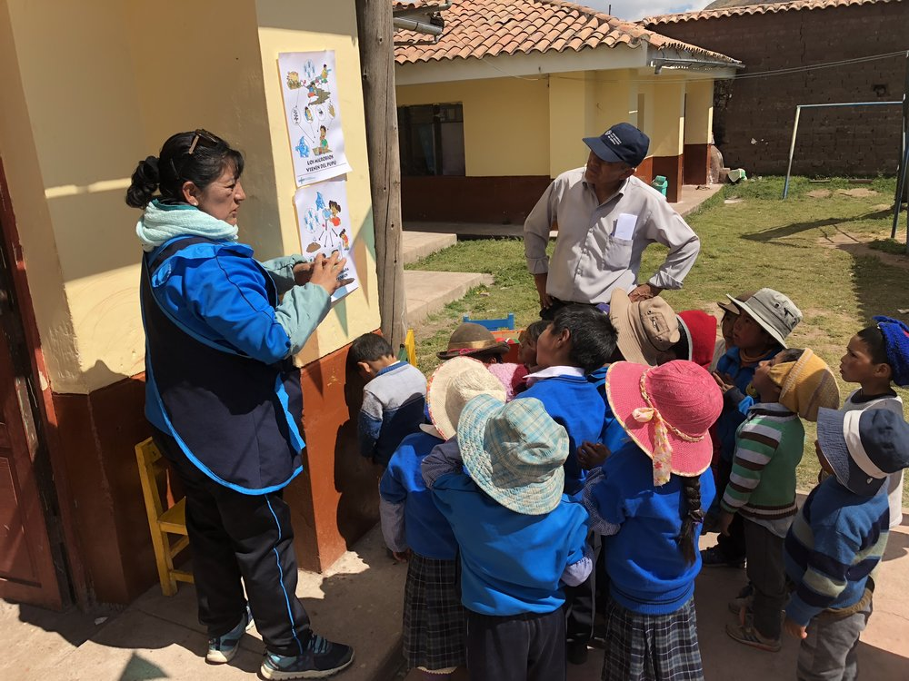 Teaching WASH at the kindergarten