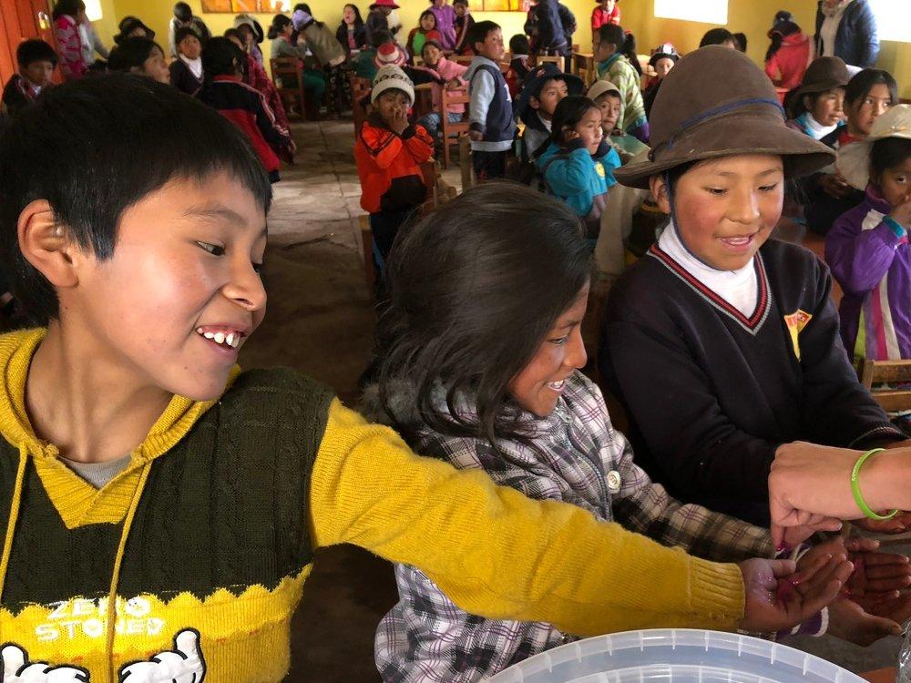 Teaching handwashing to primary school kids