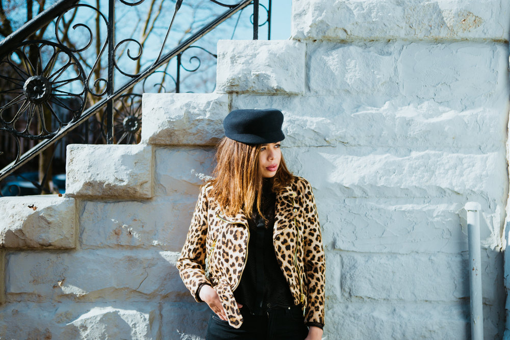 How to style a moto jacket | how to wear cheetah.