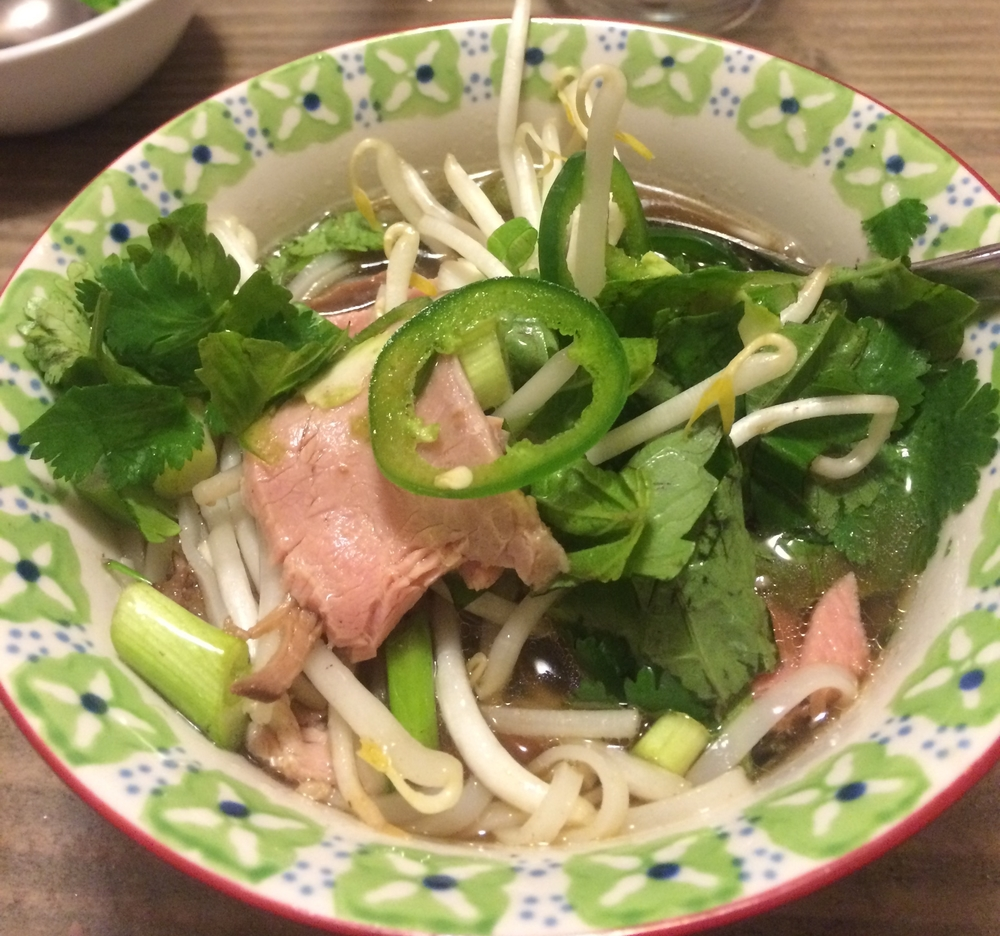 Vietnamese Pho Soup made with left over prime rib
