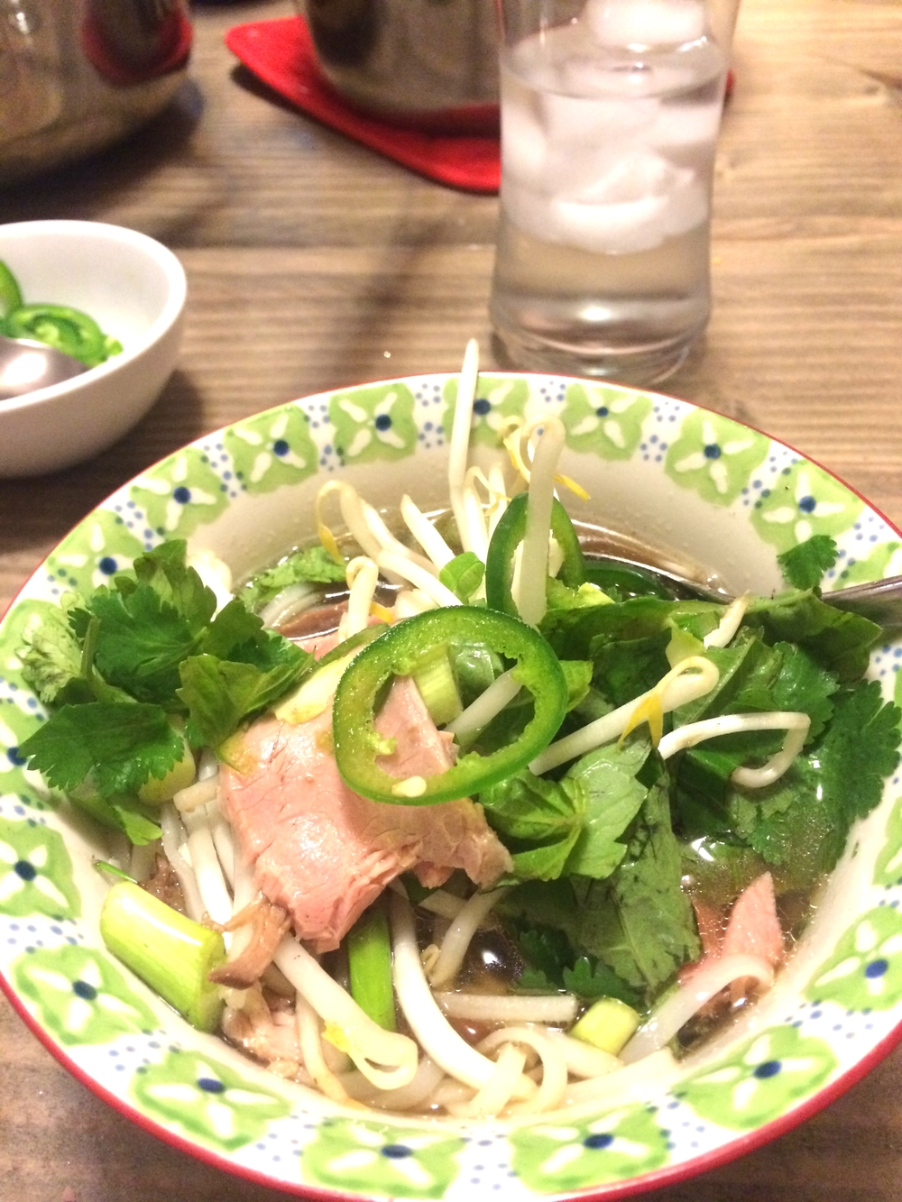 Pho, a gorgeous, traditional soup from Vietnam.