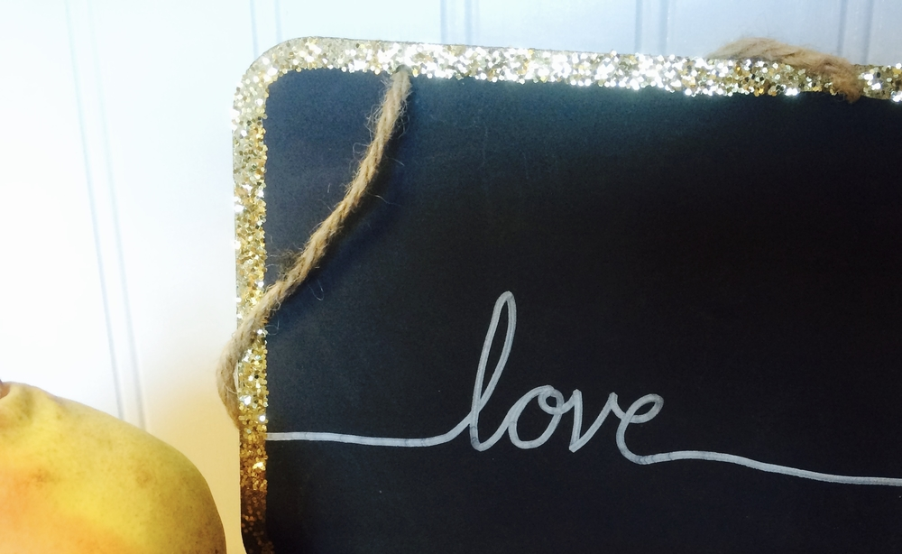 love chalkboard sign