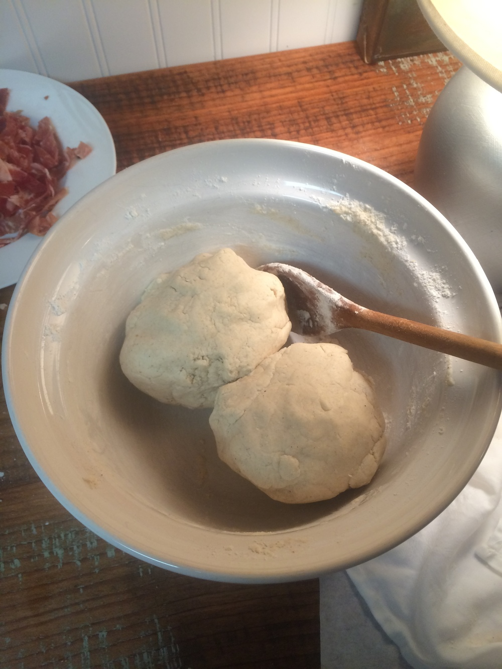 divide dough into 2 balls