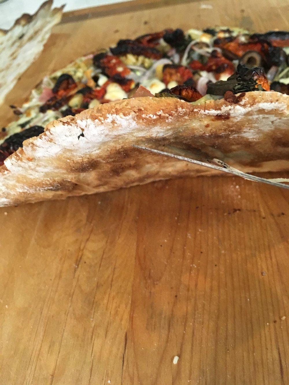 thin crisp crust
