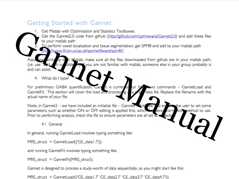 Gannet Manual