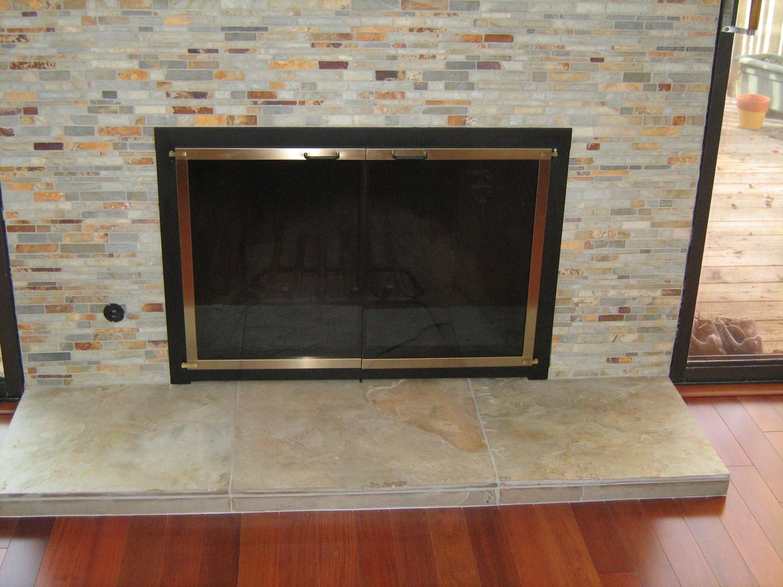glass doors u2014 wilshire u0026 okell u0027s fireplace