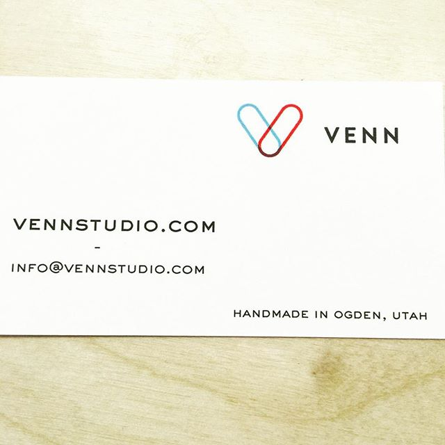 The business cards are in! #venn #vennstudio #bikefenders