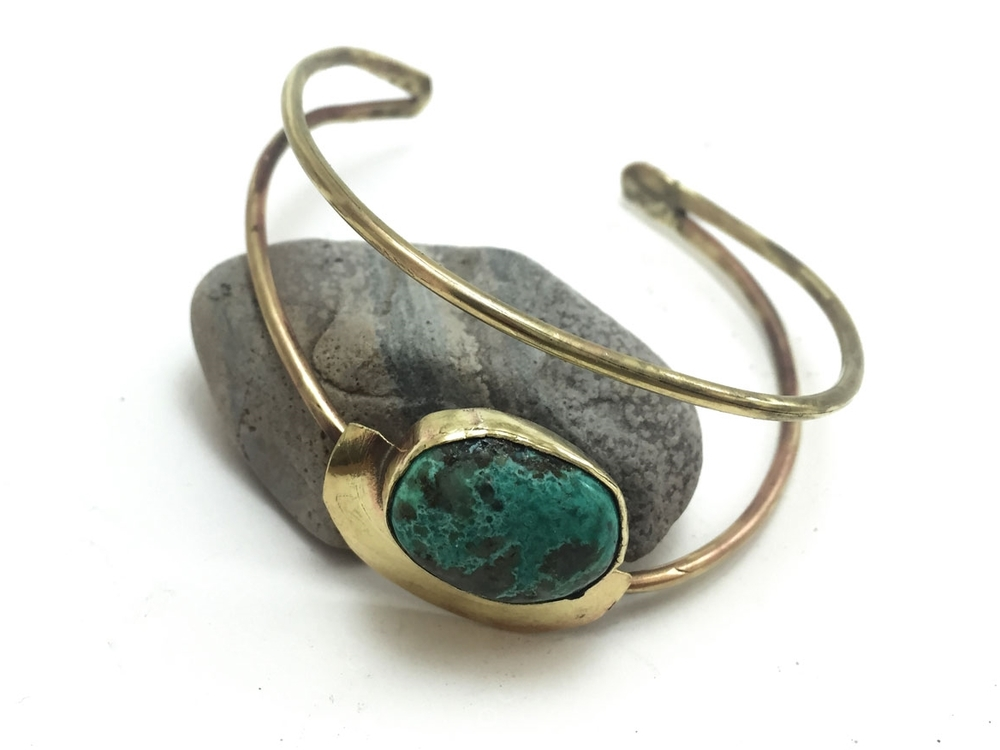 Turquoise Blue Earth Cuff