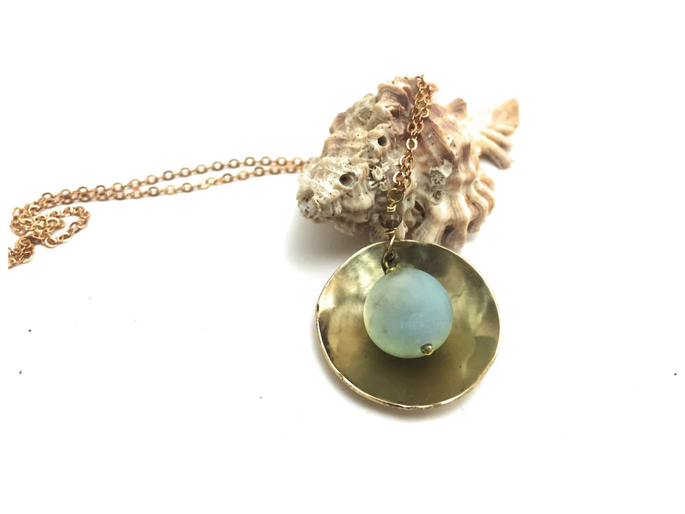 Amazonite Calla Lily Necklace