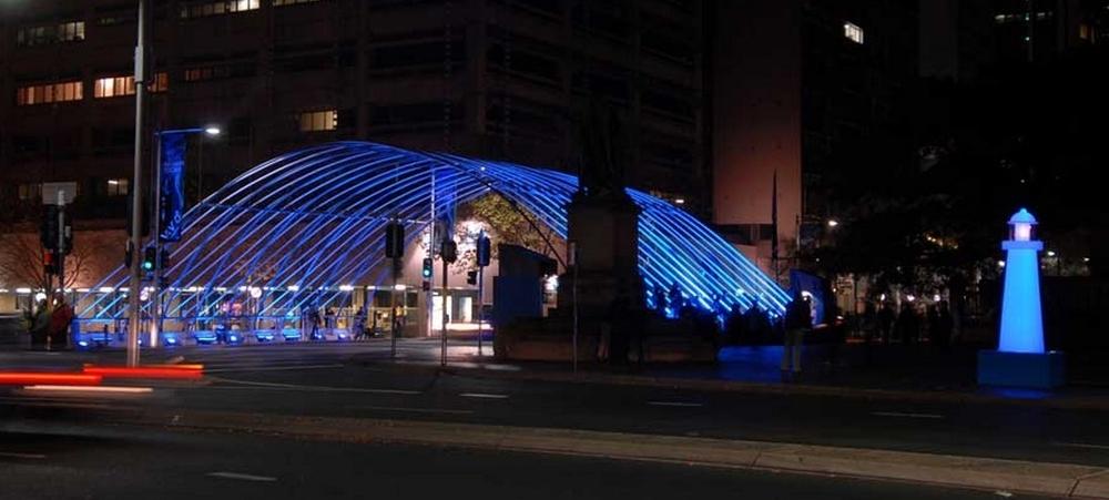 Macquarie Visions Arch VIVID Sydney