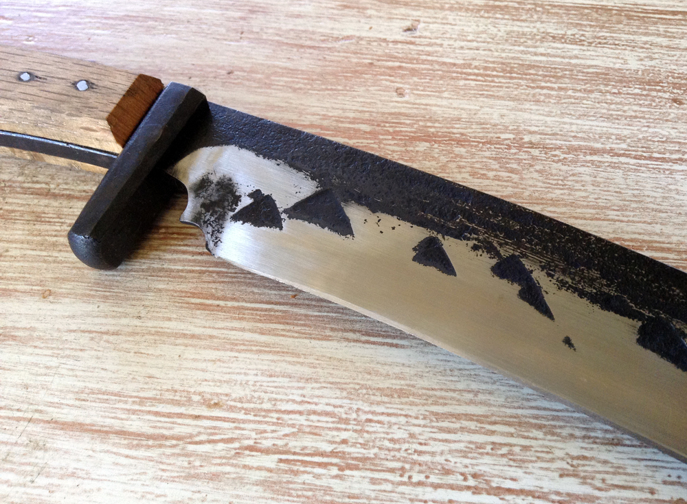 tanto-kukri-bowie knife, steel, tool steel, wood, 2014