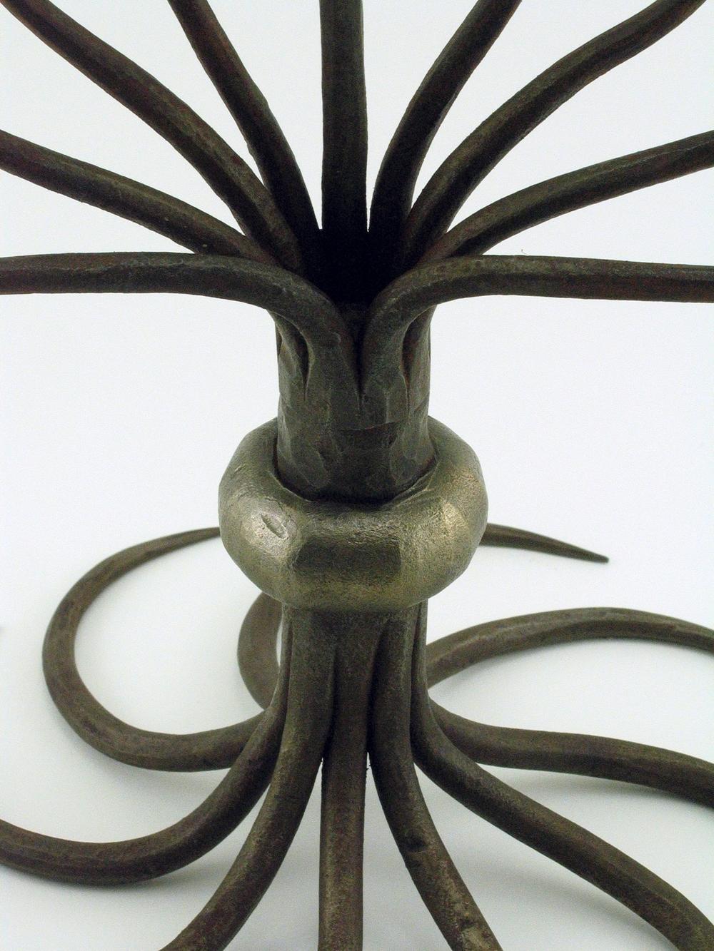menorah, mild steel, 2012