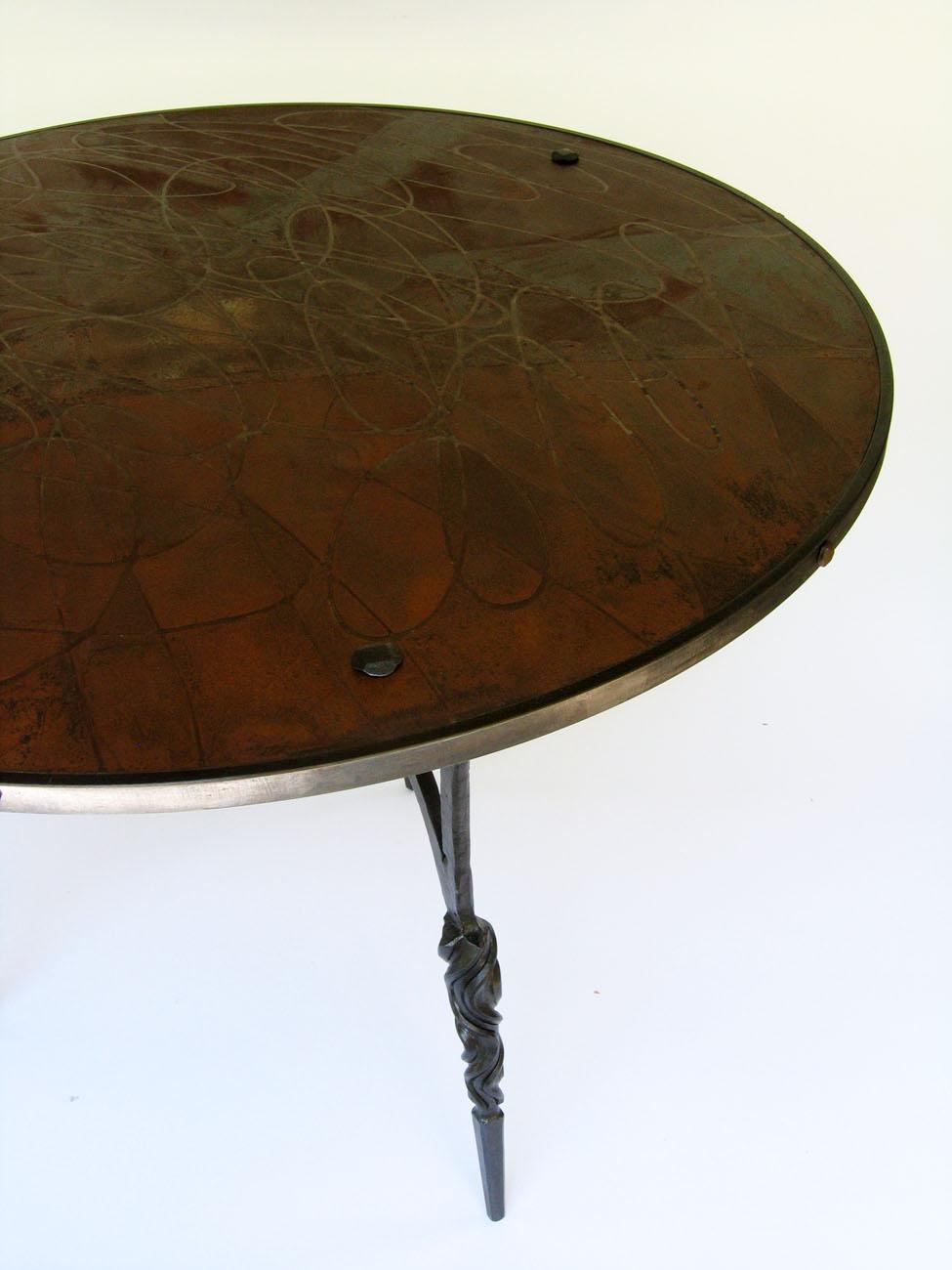 kitchen table, steel, plywood, 2013