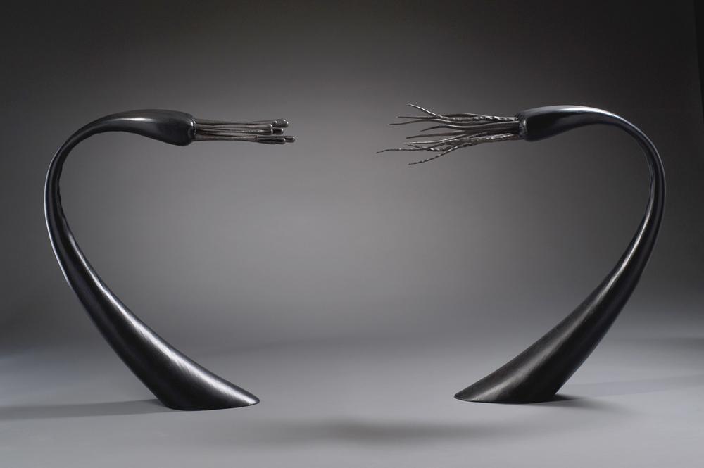 Succuboids, steel, plywood, 2010