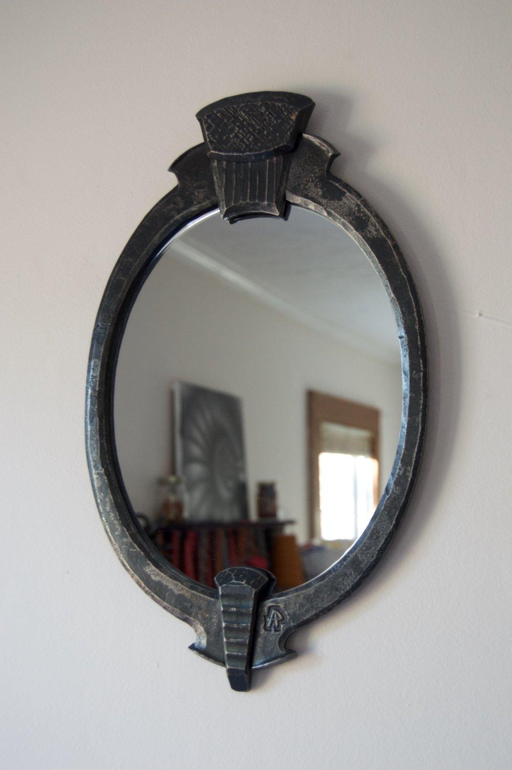 Oval Mirror, mild steel, mirror, 2016