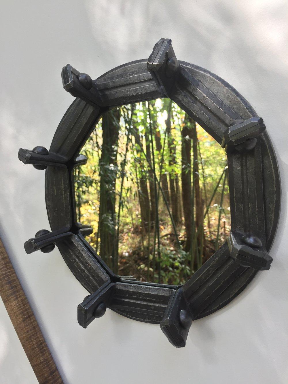Octagonal Mirror, mild steel, mirror, 2016