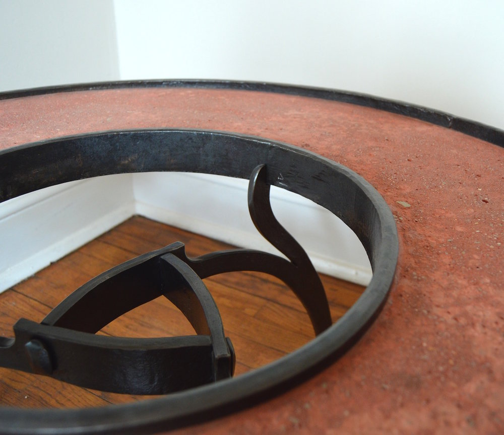 Donut Table, steel, concrete, 2011