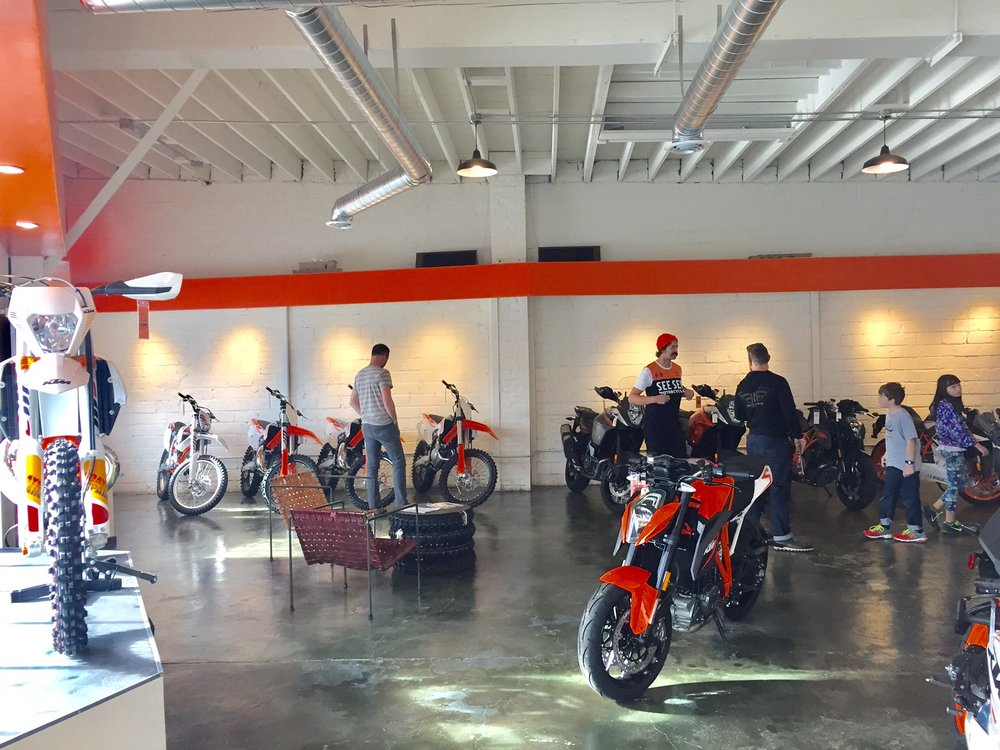 New KTM dealership in Portland, a few blocks from See See Motorcycles
