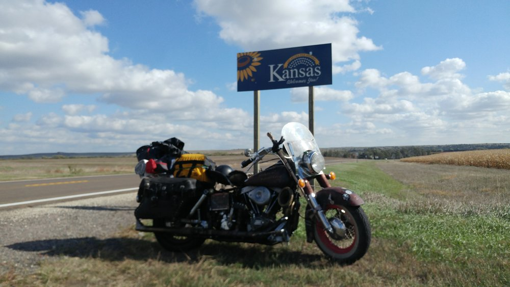 Made it to Kansas on Highway 83