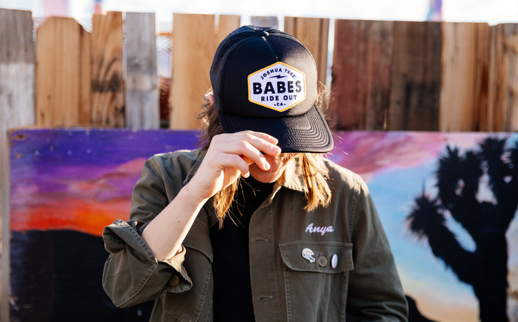 c96f30fed1103 BABESRIDEOUT Merch Genevieve Davis (11 of 15).jpg DSC02786.jpg. Road Trip Trucker  Hat