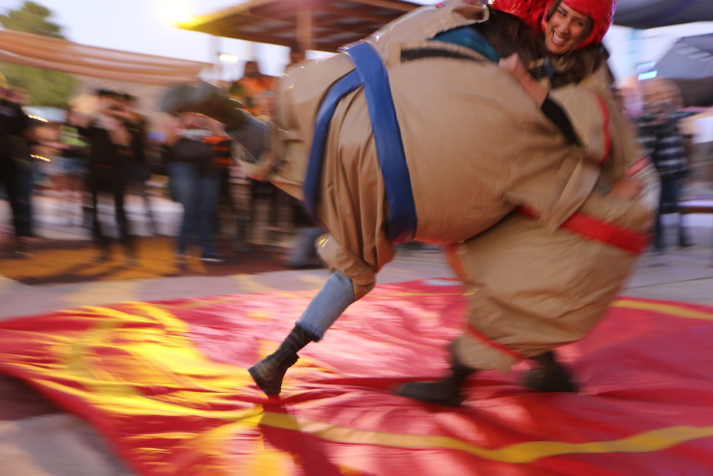 Ashmore and Mich go head to head. Sumo was ALL time! Photo by Savannah Rose
