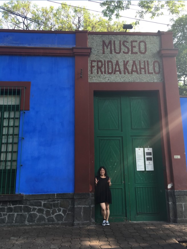 I am a HUGE fan of Frida Kahlo. Arrived early at Casa Azul and was SO stoked to be the first one in line! For those of you who don't know her…….you should look her up. Too much to explain in a sentence!