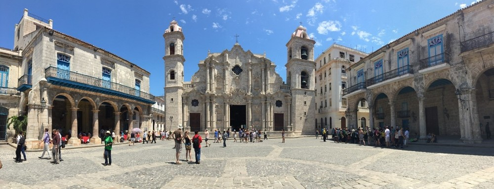 Plaza de la Catedral is one of the 5 main squares in Old Havana