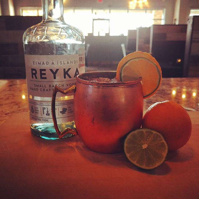 """Orange Mule"" is a great way to start off the weekend...come on in and try out one of these hand crafted cocktails!! #timeless #craftcocktails #itstheweekend"