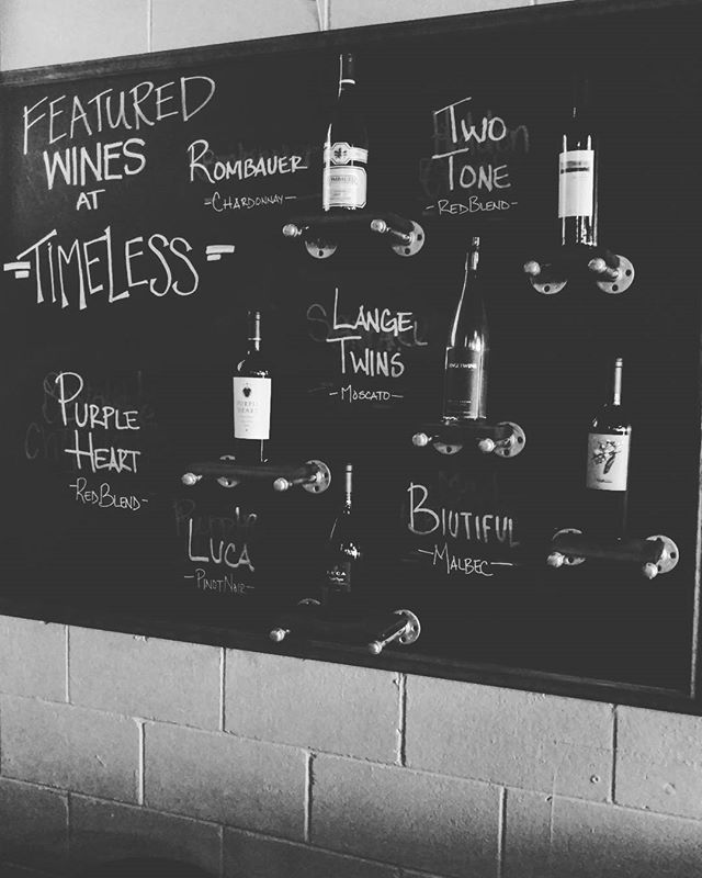 1/2 price bottles on all Featured Wine through the weekend!! #timeless #halfpricewine
