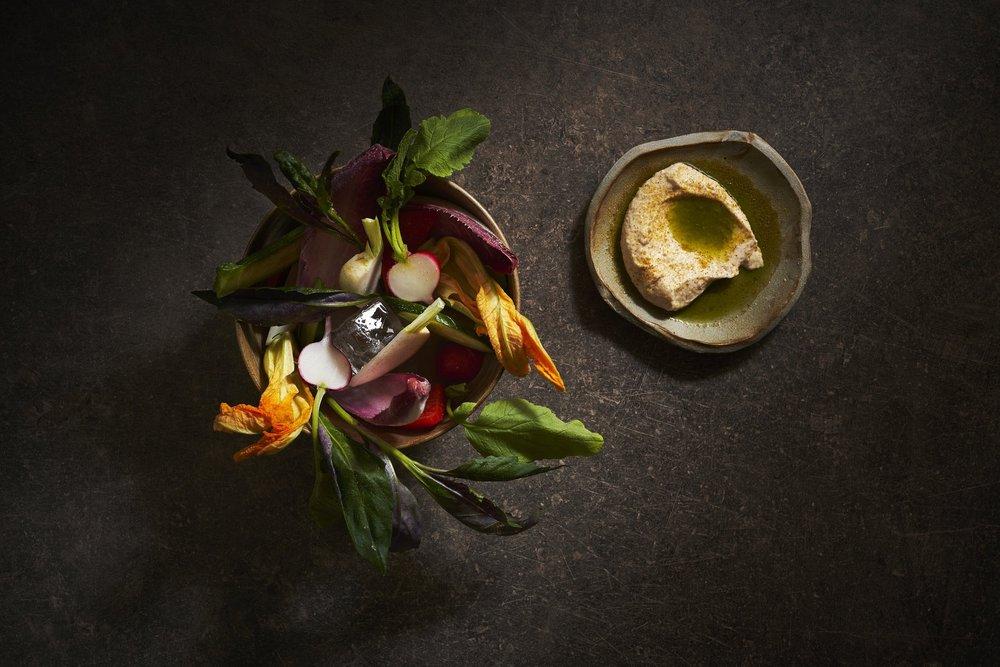 Le Bon Funk_Vegetable Crudités and Whipped Roe.jpeg