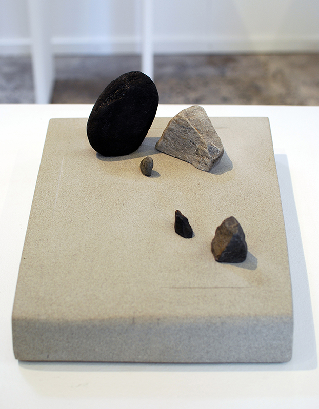 Copy of 'Zen Stonescape 3', Simon Gandevia, Five stone on Sandstone base.