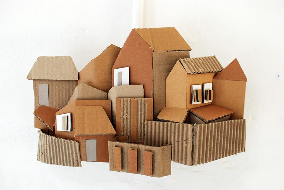 Copy of 'Balmain', Linda Bowden, cardboard.