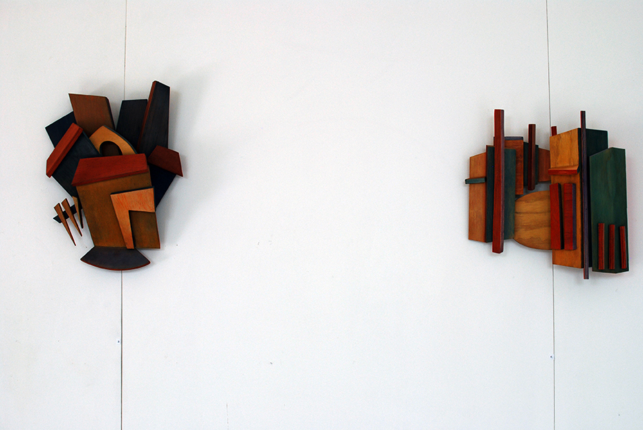 Copy of Exhibition view: Linda Bowden's sculptures.