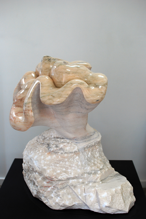 Copy of 'Eve', 2012, Pink Portuguese Marble, Leah Ferris.