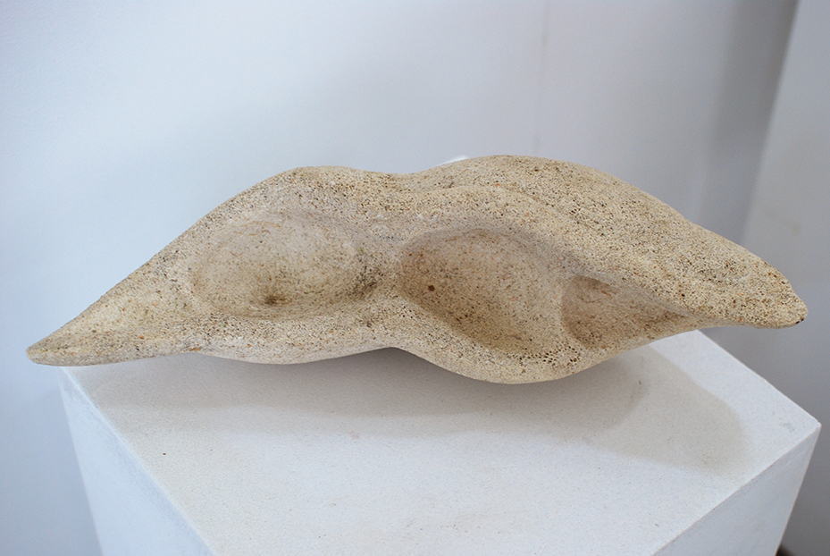 Copy of 'Seed pod', 2011, Limestone, Ian Kennedy.