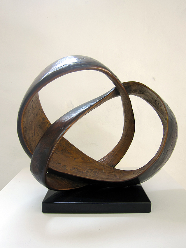 Copy of 'Ester II', 2014, Bronze on black granite, edition of 8, Carol Crawford.