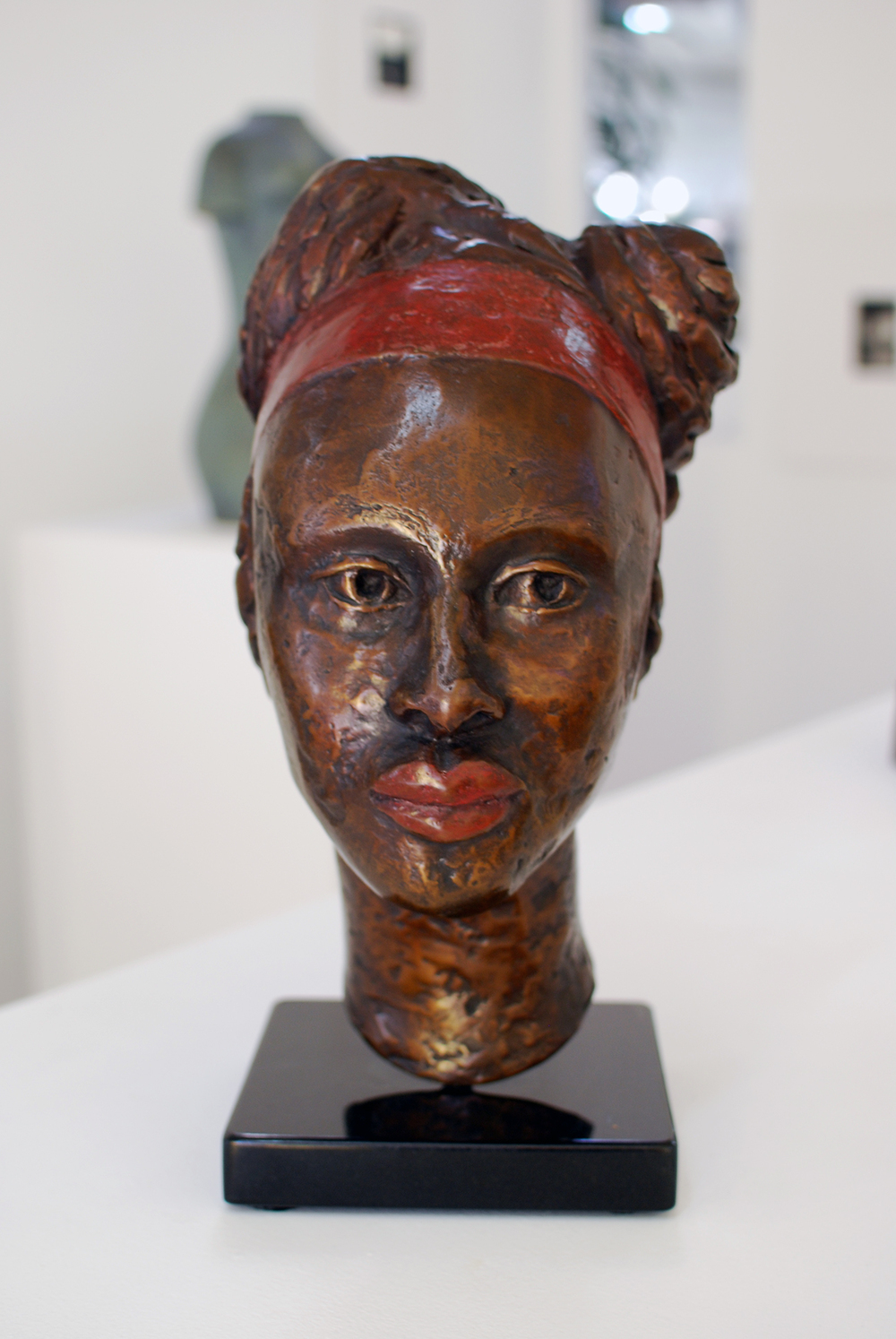 Copy of 'Benedicta', bronze, granite, $9,000