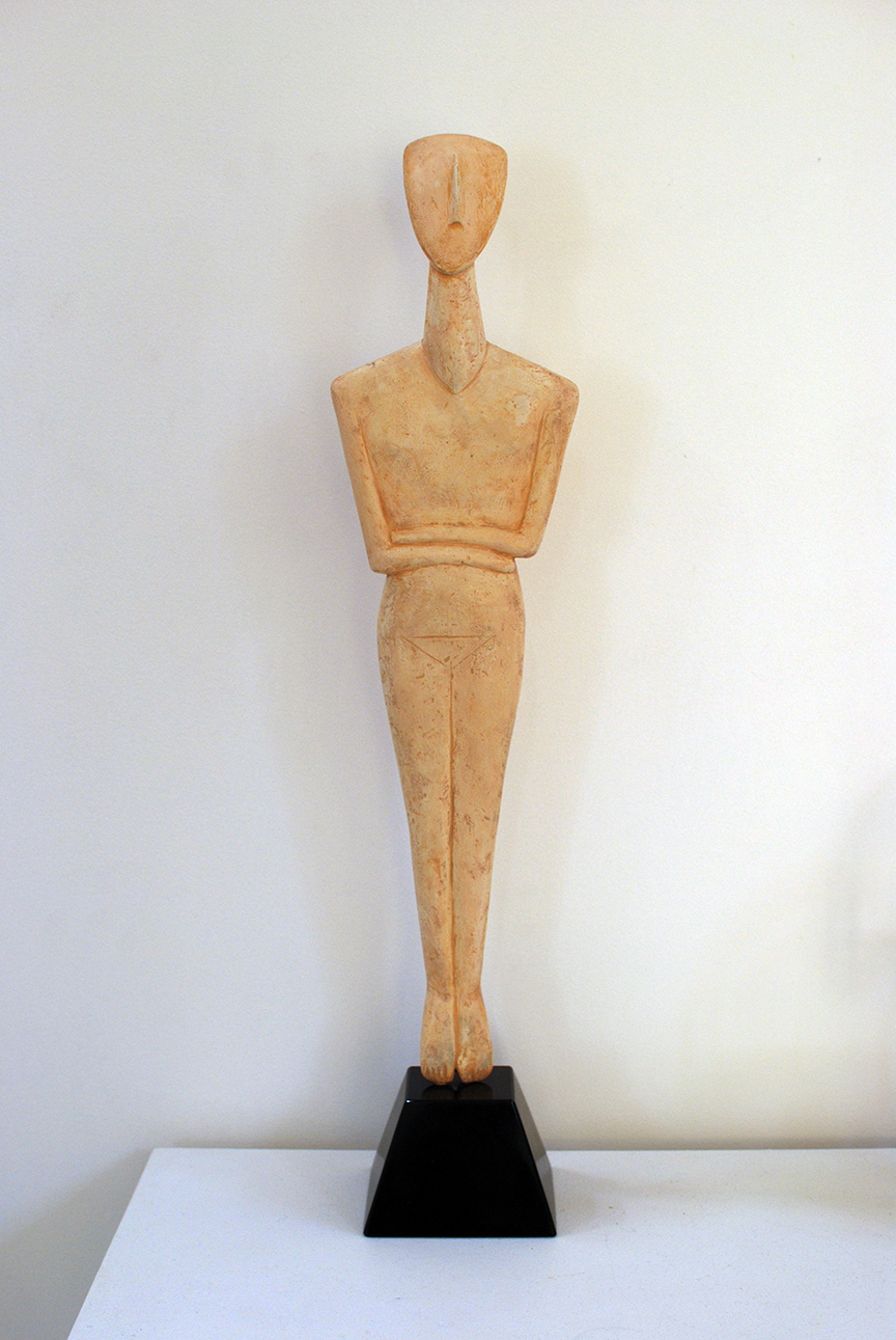 Copy of 'Cycladic Figure', plaster, sisal, granite, $1,400