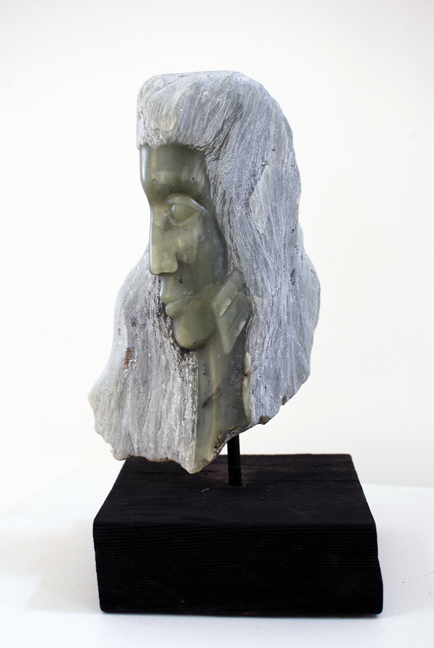 Copy of 'Ice Lady', soapstone, wood base, $1,100