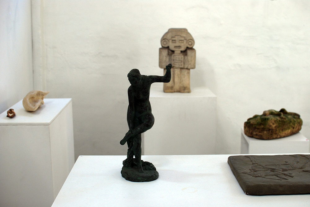 Copy of 'Plaster and Stone' exhibition view.