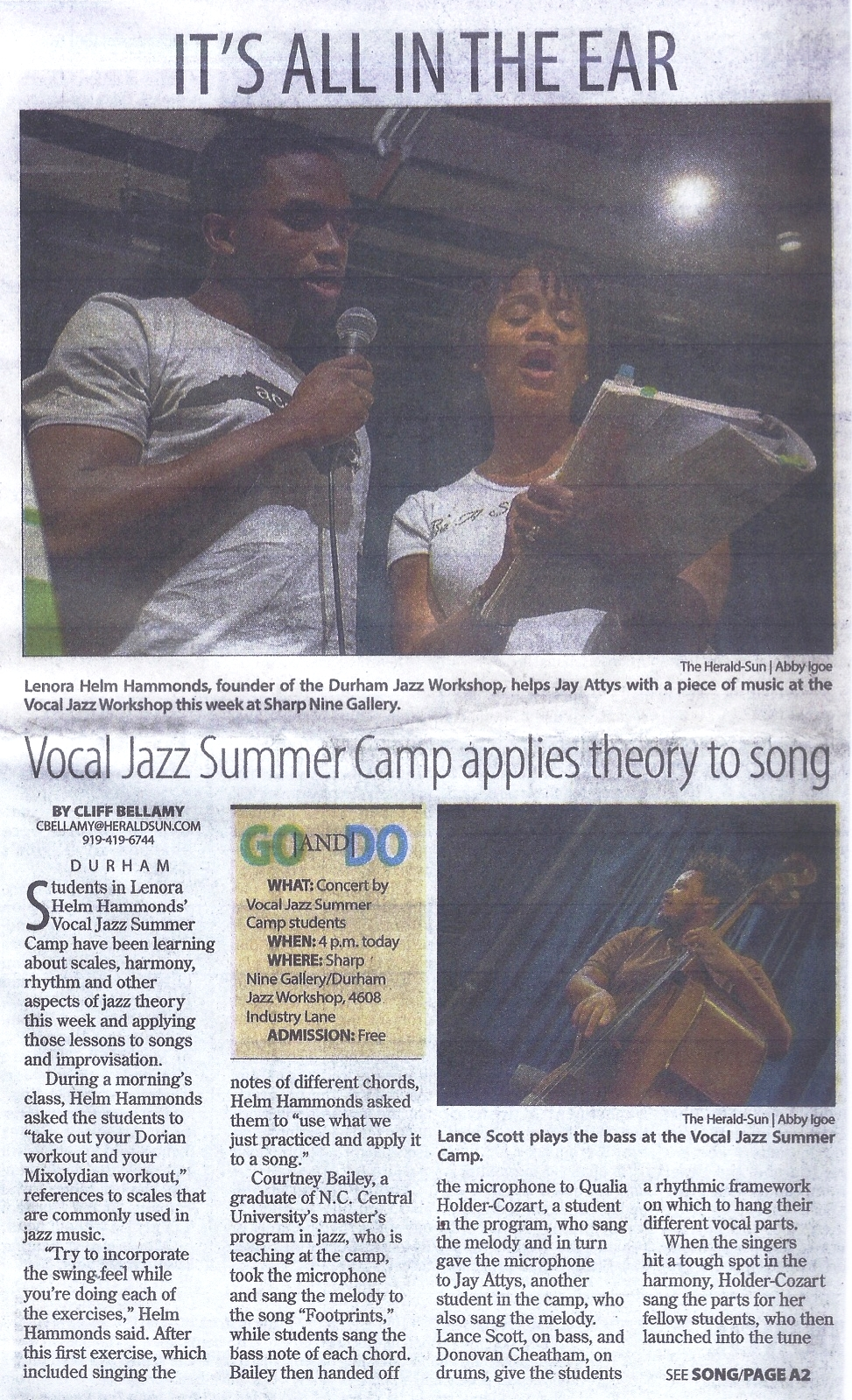 Vocal Jazz Summer Camp 2016 article pg 1 jpeg.jpg
