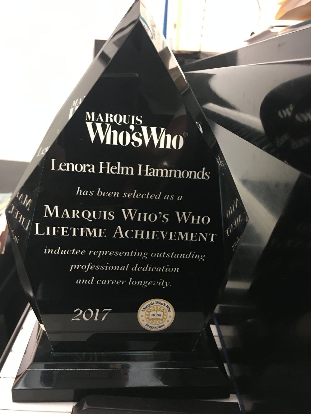 WW_Hammonds_lifetime acheivement award.JPG