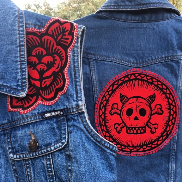 Guerra patches sewn on - Jessica Guerra.JPG