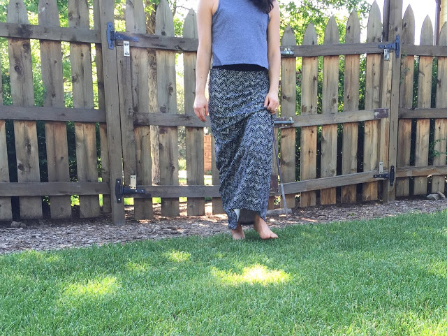 Summer outfit | maxi + crop top | Open Spaces blog