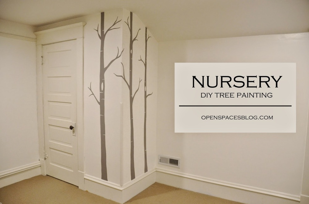 Hand Painted Birch Trees | Nursery Decor | Open Spaces blog