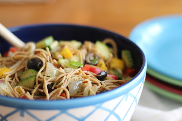 Vegetable Pasta Salad Recipe | Open Spaces blog: click through for steps